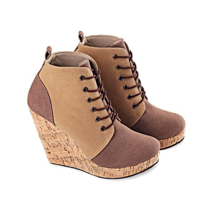 Rsm Sepatu Boot Heels Wanita S232 Black Brown - Daftar Harga ... 81022f8fcd