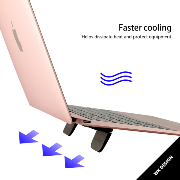 AMIOO 1 Pair Mini Portable Invisible Laptop Holder Foldable Cooling Stand for Laptop Notebook Tablets Smartphones Foldable and Pluggable Laptop Travel Rack Malaysia