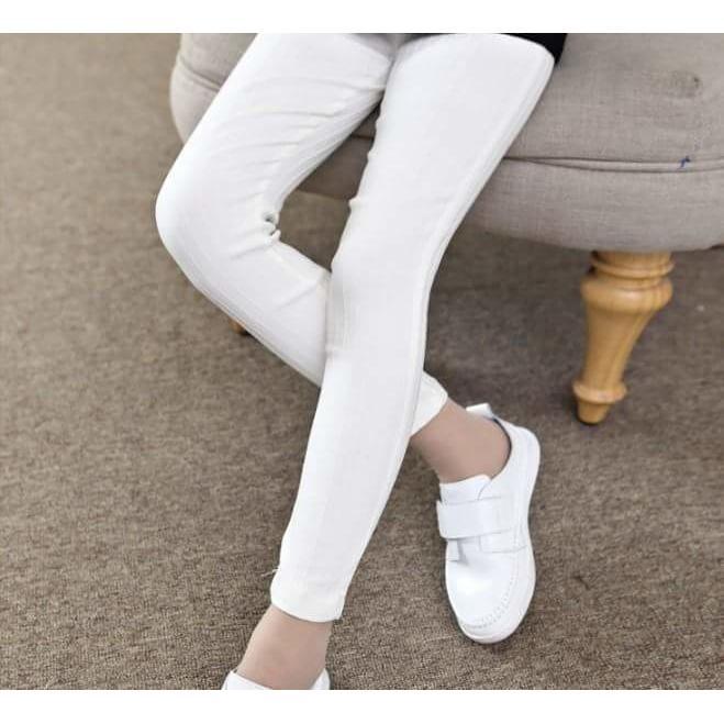 Celana Legging Wanita Lejing Polos Panjang Putih Murah Meriah Cod Lazada Indonesia