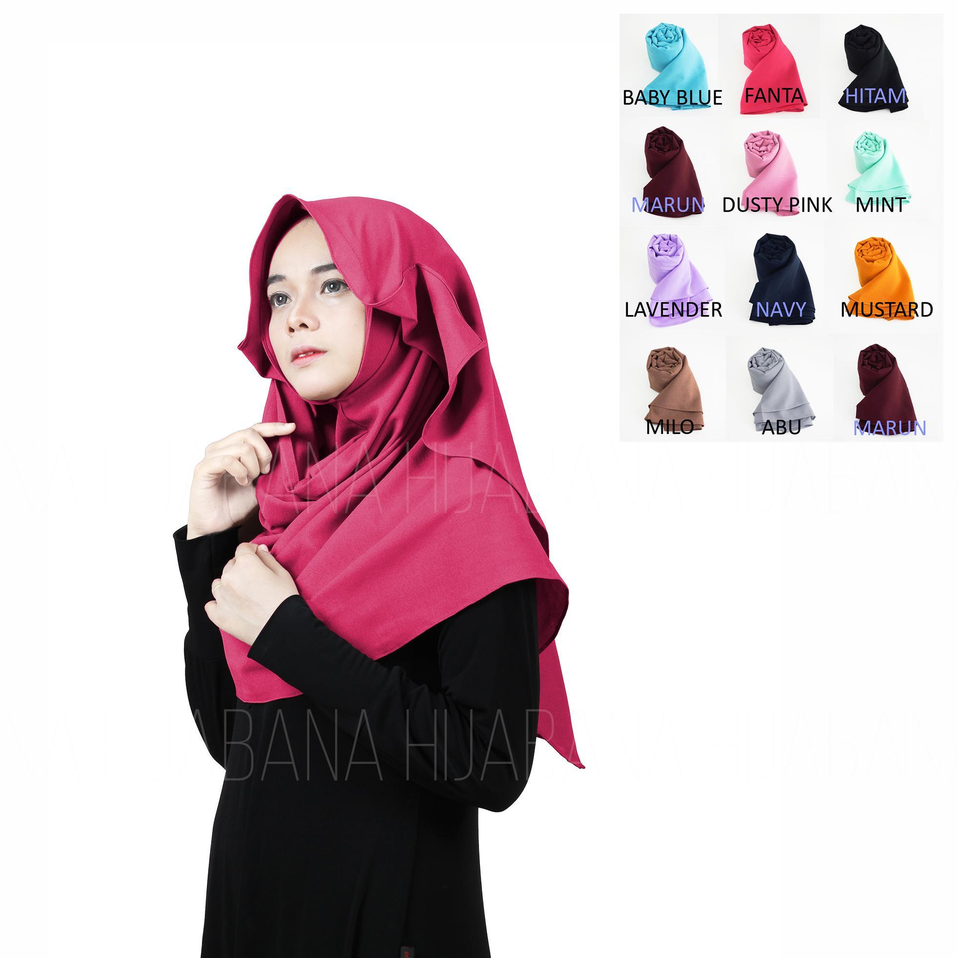 Kerudung Instan Hijab jilbab Instan Kerudung Murah Berkualitas Pashmina Instan HanaIDR29900. Rp 29.900