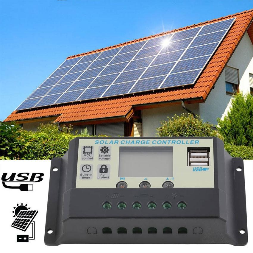 Solar Charge Controller 10a 12v 24v Panel Battery Aki Charging By Klikmystore.com.
