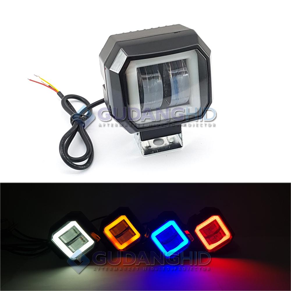 Lampu Tembak Sorot LED Cree 20W 4D Lens Laser Gun Mini Daymaker Kotak