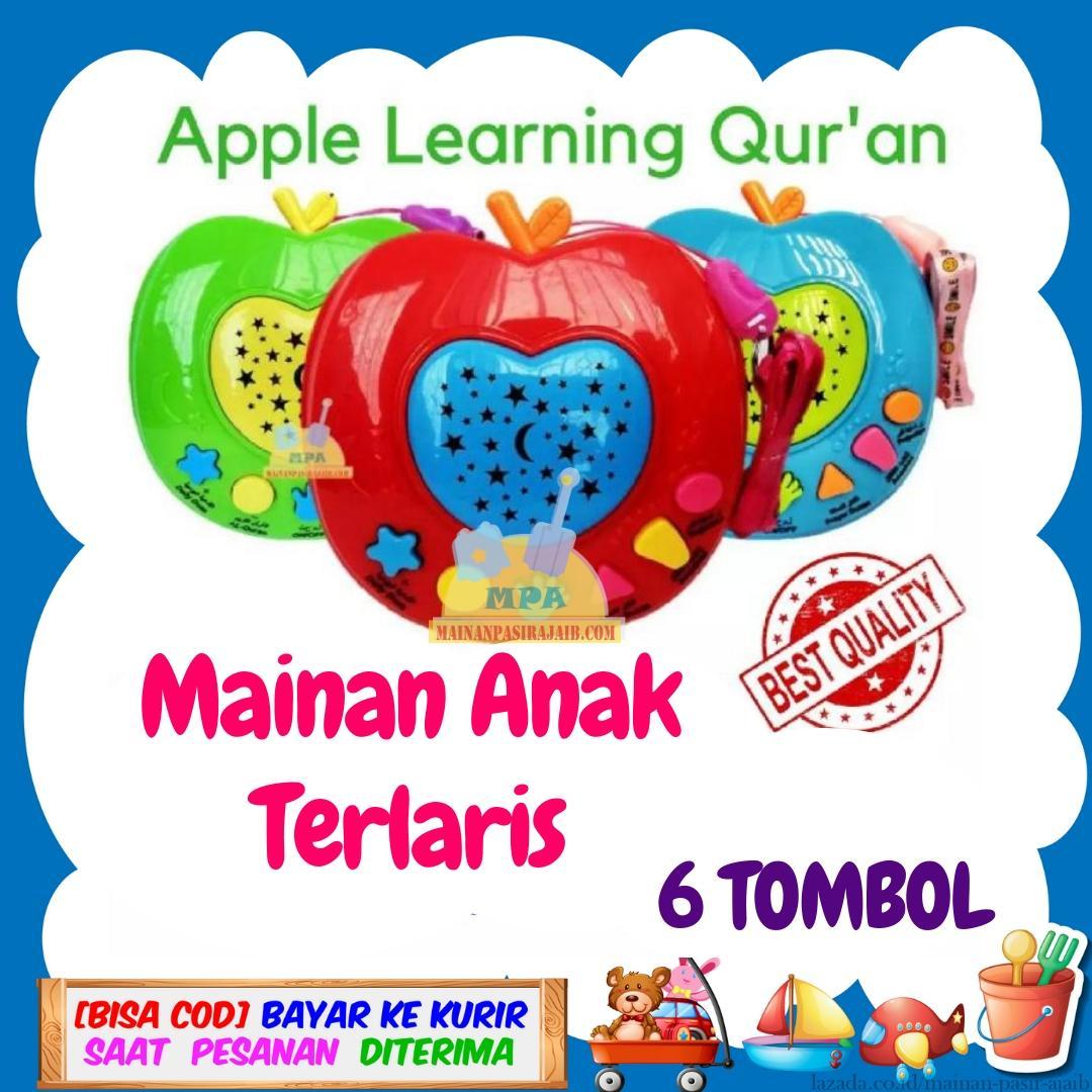 Mainan Terlaris Mainan Edukasi Anak Muslim Apple Learning Qur'an Quran Apel Learning Mengaji Anak Qur an + Projector Lamp