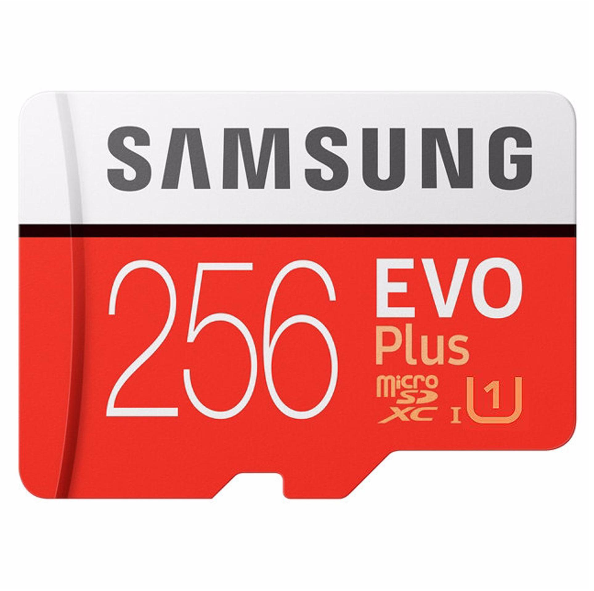 Samsung Memory Card Microsdxc Evo Plus 256gb / 100mb/s With Adapter - Merah By Relax Life Shop.