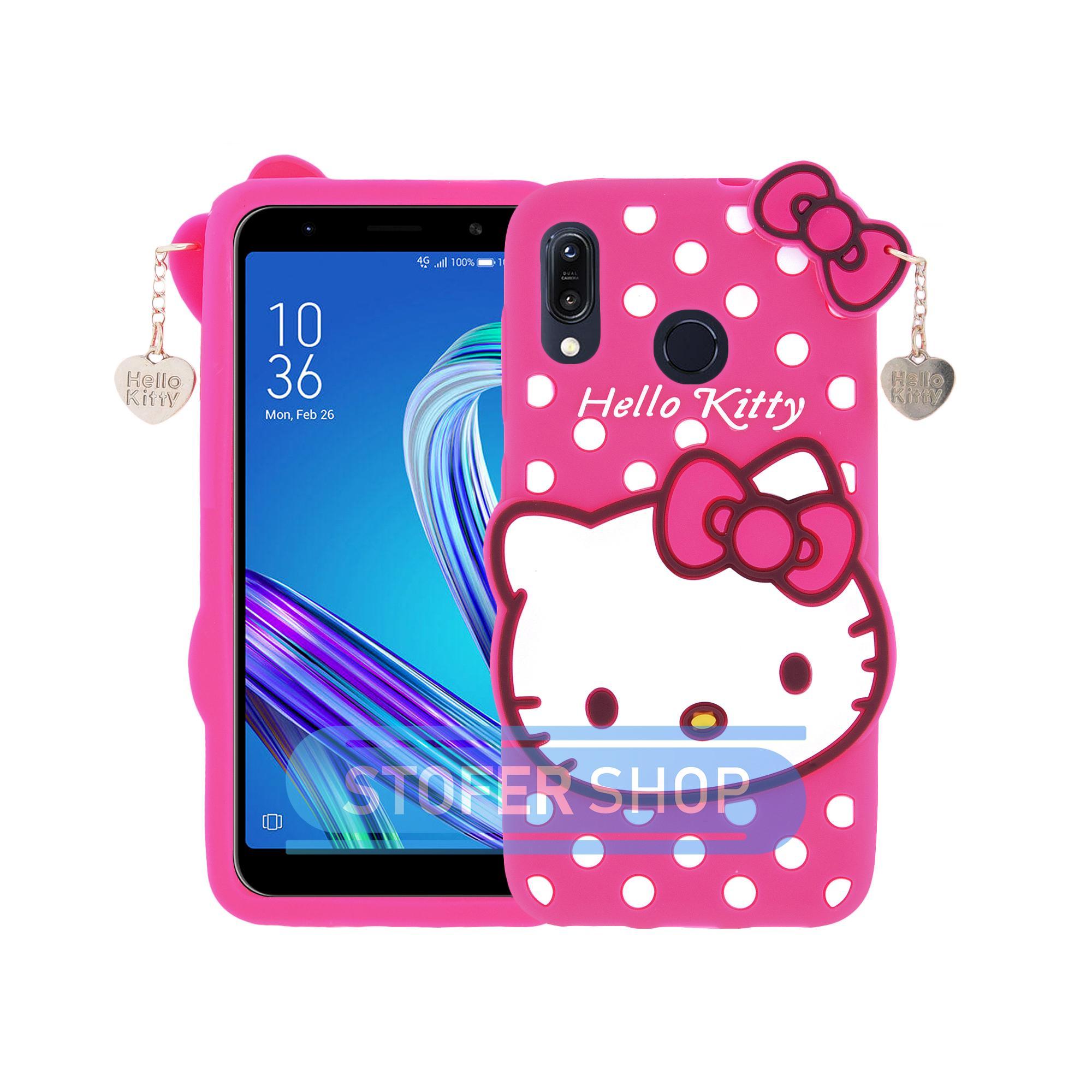 3D Case Hello Kitty Asus Zenfone Max (M1) ZB555KL Softcase 4D Karakter Boneka Hello