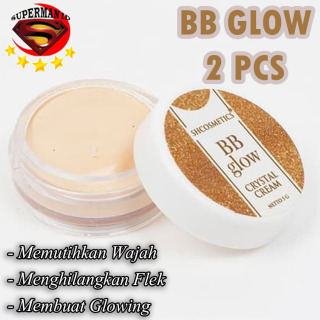 SUPERMAN ID - PROMO 2 PCS BB Glow Crystal Cream Original 100% BPOM Krim Wajah Glowing Mencerahkan Memutihkan Wajah thumbnail
