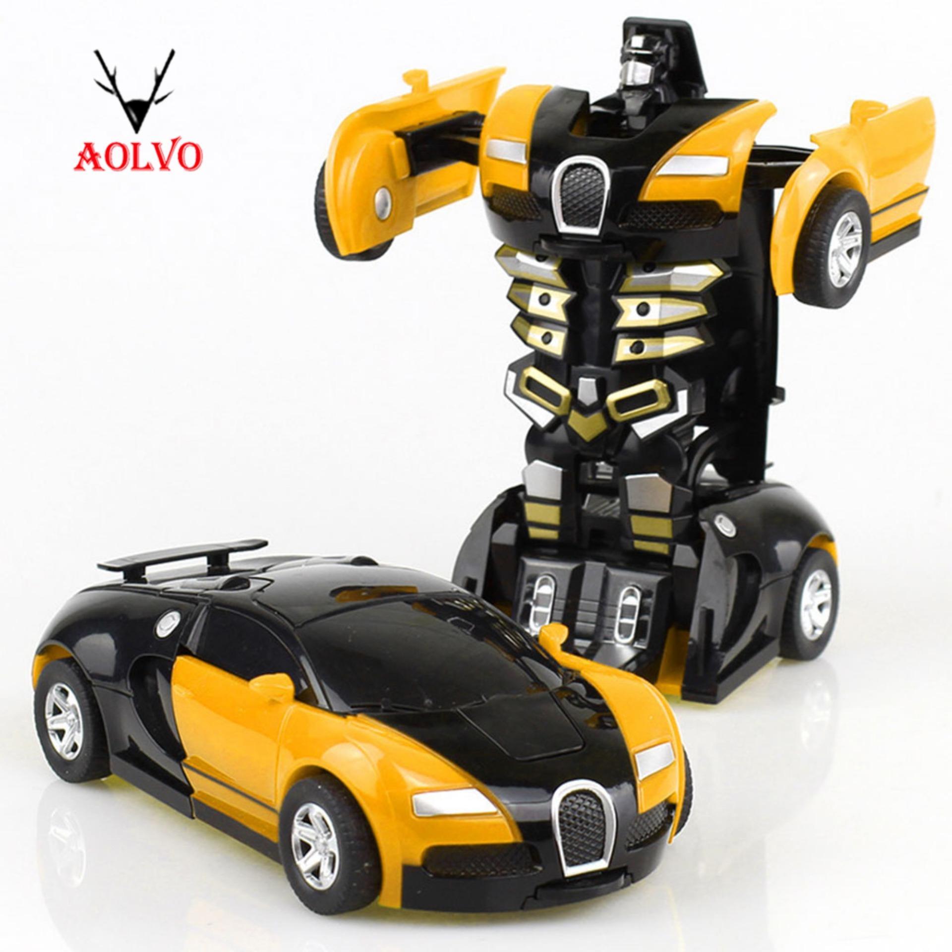 Transformers Mobil, Penyelamatan Bots Deformasi Transformer Mobil One-Step Mobil Robot Kendaraan Model Aksi Angka Mainan Mengubah Mobil Untuk Anak-Anak By Aolvo.
