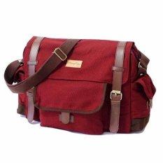 Toko Firefly Haywood Maroon Canvas Messenger Bag Yang Bisa Kredit