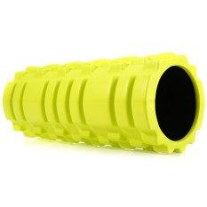 Kebugaran Floating Point EVA Yoga Foam Roller untuk Fisio Pijat Pilates (NEON HIJAU)