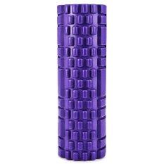 Kebugaran Floating Point EVA Yoga Foam Roller untuk Fisio Pijat Pilates (UNGU)