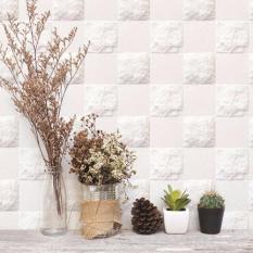 Beli Fix Marble 3D Wallcover White Tiles Sdm 27505 Embossed Lengkap