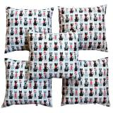 Spek Flanelade Sarung Bantal Sofa Motif Cat White 5 Buah North Sumatra