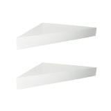 Obral Floating Shelves Ambalan Segitiga 2 Pcs Rak Dinding Sudut Minimalis Putih Murah