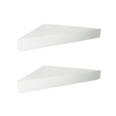 Beli Barang Floating Shelves Ambalan Segitiga 2 Pcs Rak Dinding Sudut Minimalis Putih Online