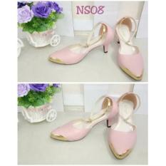 Harga Flower Sepatu Heels Wanita Pink Termurah