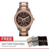 Harga Fossil Stella Es2955 Free Fossil Addict T Shirt Terbaik