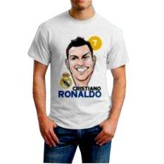 Jual Fourstuff Kaos Pria Sablon Karakter Ronaldo Putih Branded Murah