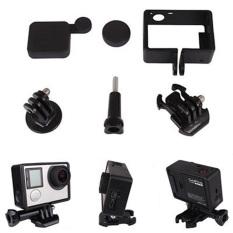 Frame Mount Cover Lens Cap Adaptor untuk GOPRO HERO 3 Plus 4 Kamera