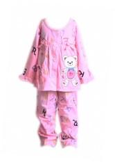 Harga Freeshop Piyama Bear Lengan Panjang F926 Pink Yang Murah