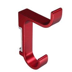 FSH Aluminium Double Gantungan Kait untuk Kamar Tidur Dapur Lemari Balkon Merah