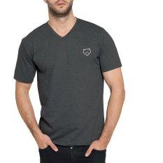 Jual Fuzzywuzzy T Shirt Pria V Neck 02 Dark Misty Murah