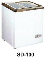 Gea - Freezer Sliding Door - Putih - SD 100 -Khusus JADETABEK