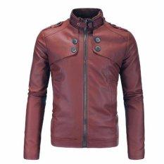 Harga Global Jaket Kulit Pria Bk 49 Brown