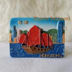 Gloria Bellucci - Magnet Kulkas souvenir hongkong china perahu