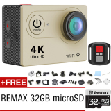 Promo H9R 4 K Action Camera Wifi Sports Cam Terpencil Controlshutter Emas Goq Eken Akhir Tahun