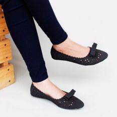 Toko Gratica Sepatu Flat Shoes Laser Am49 Hitam Terlengkap Di Jawa Barat