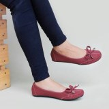 Jual Gratica Sepatu Flat Shoes Dr51 Maroon Jawa Barat Murah