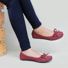 Spesifikasi Gratica Sepatu Flat Shoes Dr51 Maroon Gratica Terbaru