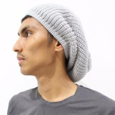 Grey Beanie Hat / Topi Kupluk Rajut Okechuku