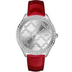 Jual Guess Jam Tangan Wanita Silver Putih Ring Diamond Strap Red W0579L4 Guess Original