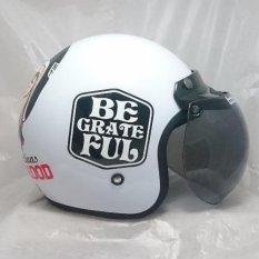 Helm Bogo (Retro) Be Grateful White