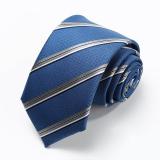 Beli Kualitas Tinggi 2016 Kedatangan Baru Setelan Bisnis Dasi Untuk Pria Tahan Air Nanofibers 7 Cm Biru Putih Stripe Twill Necktie Gift Kotak Biru Dengan Kartu Kredit