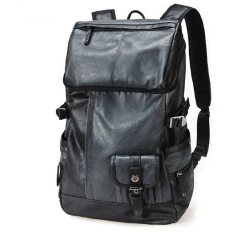 Beli Hiking Perjalanan Pria Ransel Laptop Berkapasitas Tinggi Pu Kulit Knapsack Fashion Korea Tas Untuk Pria Cicil