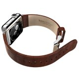 Beli Hoco Bamboo Texture Leather Band For Apple Watch 42Mm Brown Secara Angsuran