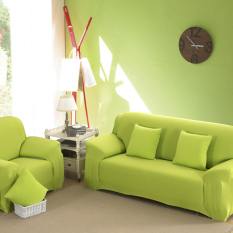 Jual Home Furniture Chair Loveseat Sofa Couch Stretch Protect Cover Slipcover Green 3 Seater Original