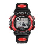 Ulasan Mengenai Honhx Jam Tangan Anak Kid Boy Girls Led Digital Water Resist Casual Sports Digital Merah