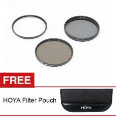 Hoya Filter Kit - UV+CPL+ND8x - 58mm + Gratis Hoya Filter Pouch