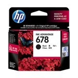 Tinta Printer HP 678 Black Original Ink Advantage Cartridge - Hitam