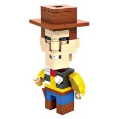 HSANHE BLOCK 6317 Action Figure Cube Nano Micro World Series Sheriff Woody