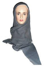 I Love Hijab Jilbab Sulam Pita Motif Simpel 1 - Abu-abu