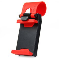 iCantiq Car Steering Wheel Smartphone Holder/ phone holder stir mobil - Merah