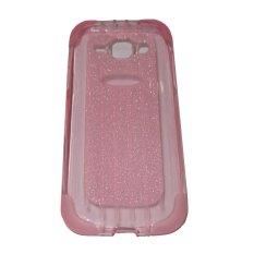 Icantiq Softshell Garis Untuk Samsung E7/E700F Sparkle Shine Line Softcase Jelly / Silicone - Pink