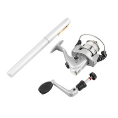 Toko Ice Fishing Telescopic Rod Portable Pen Batang Pocket Aluminium Alloy Fishing Spinning Rod Pole Dengan Ikan Reel Fishing Tackle Sliver Di Tiongkok
