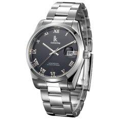 Jual Beli Online Ik Mewarnai Sederhana Scale Steel Automatic Mechanical Watch Bisnis Kasual Hitam