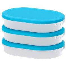 Iklan Ikea Jamka 3 Pack Tipis Wadah Penyimpan Putih Biru
