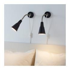 Ikea Kvart Lampu Sorot Dinding Atau Jepit - Hitam
